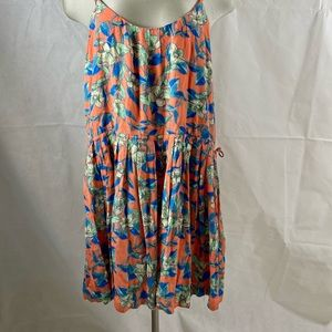 Free People Dear You Mini Dress Orange Size Large